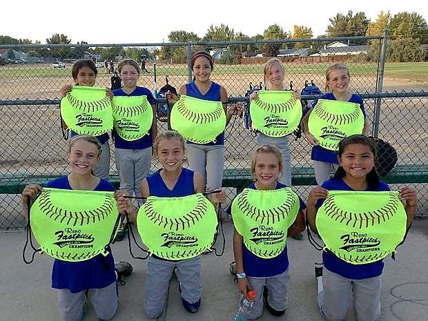 The Nevada WildCats 10-U team from Carson won the 12-under Reno Fast Pitch Fall Tournament. Members of the team are Kedre and Kailee Lushar, Amaya Mendeguia, Abby Golik, Lauren Hawkins, Neveya Kaiser, Aspen and Stormy Smokey, and Grace Miller. The team was coached by Dave Watson and Carlos Mendeguia.