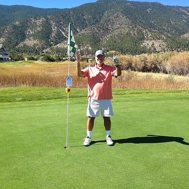 Mike Armstrong of Huntington Beach, Calif. aced No. 12 at the Genoa Lakes Course on Oct. 9. He used a 7-iron for the shot on the 132-yard hole.