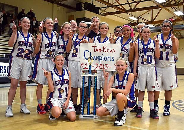 Eagle Valley Middle School won the Tah-Neva 8th-grade championship last weekend at Carson Middle School.
