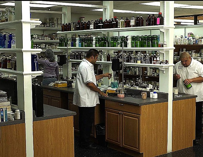The research and development lab at Cosmetic Enterprises' existing facility in Pacoima, Calif.