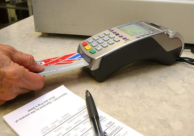 The Caucus Deli, located the Legislature building is able to process cards with the new chip technology.
