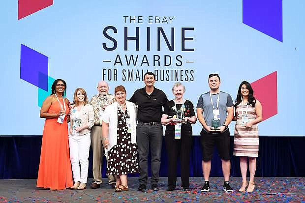 Carson City's Tanya Crew, pictured second from left, joins other eBay SHINE Award winners at the ceremony in Las Vegas.