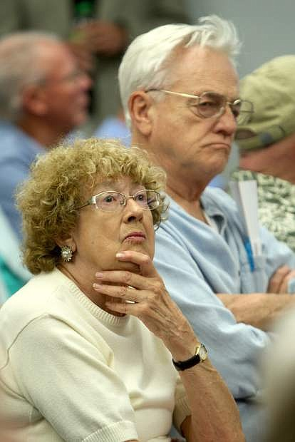 Carson City resident Marilyn Jahn attends the city's presentation on the downtown design plan.