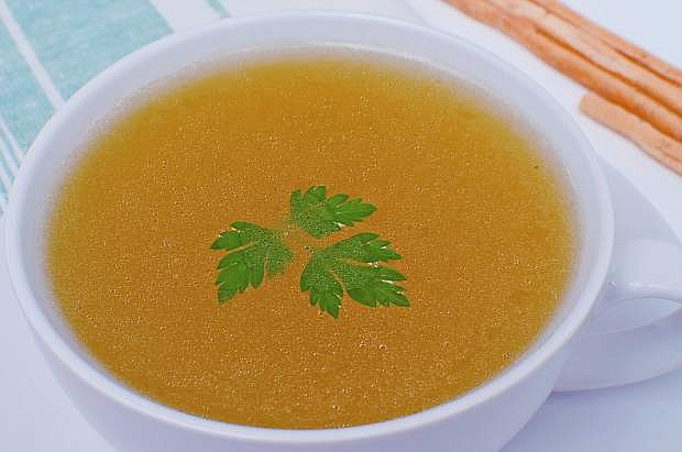 Consuming vegetable juices and even clear soups like chicken broth is one way to battle constipation.