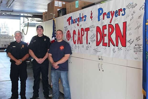 Tahoe Douglas Professional Fire Fighters held a pancake breakfast, whose proceeds benefitted Captain Pete Dern, a Fresno firefighter who was critically injured while venting a roof on a two-story house fire on April 19. The event raised $3,500 in three hours.
