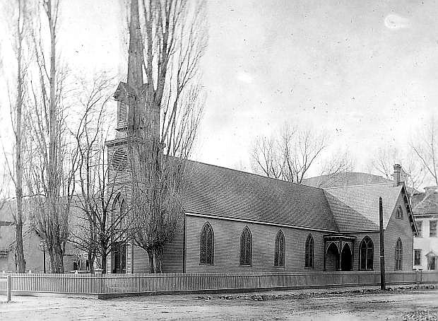St. Peter's Episcopal Church is seen in this photo dated about 1908.
