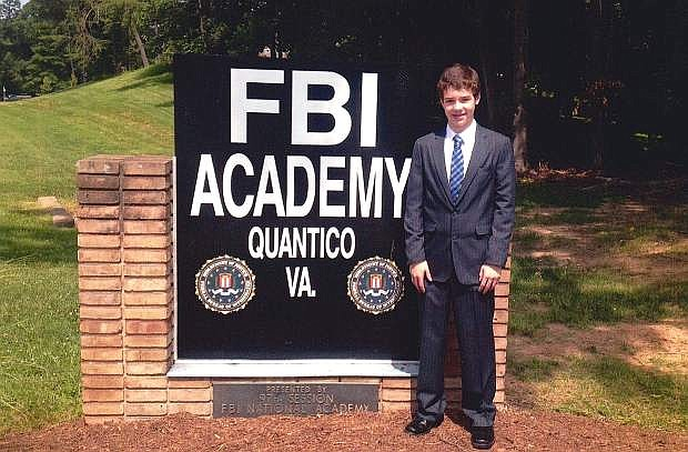 Michael Richards II attended the FBI National Academy Associates Youth Leadership Program in Quantico, Va., in June.