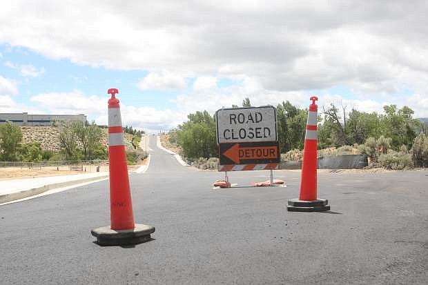 Old Clear Creek Rd. near Costco and Fuji Park is still under contstruction as shown here Thursday.