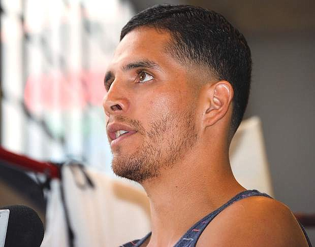 Reno boxer Oscar Vasquez will battle in his fourth Fallon Fights bout in his pro career on Friday at the Churchill County Fairgrounds.