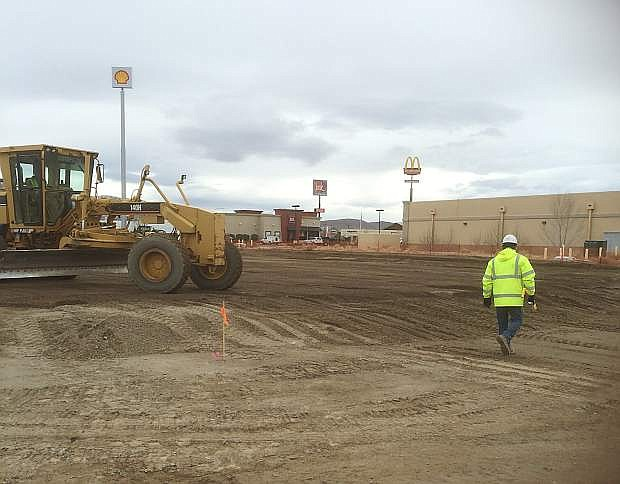 Construction recently began on the new car dealership in Fernley, the first of its kind in the Lyon County community.