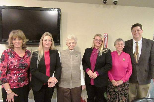 The Fernley Republican Women held its annual Christmas/Installation Dinner Dec. 15, when the Honorable Judge Leon Aberasturi administered the Oath of Office to incoming officers.