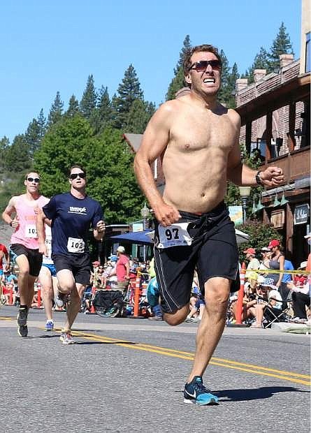 Truckee's Joe Fillman races to a 15th-place finish.