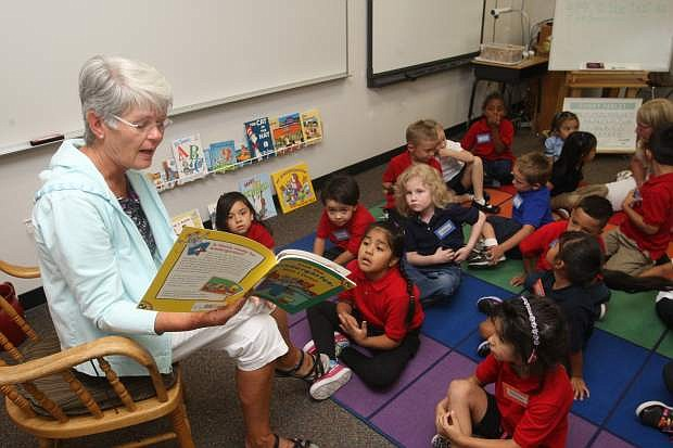 Fremont Elementary school teacher Mary Whalen left retirement to come back and help teach full day kindergarten.