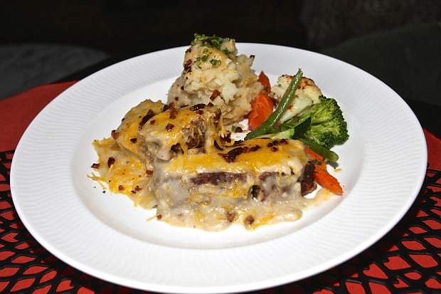 Homemade meatloaf, fresh veggies and mashed potatoes are on the menu at Adele's in Carson City.