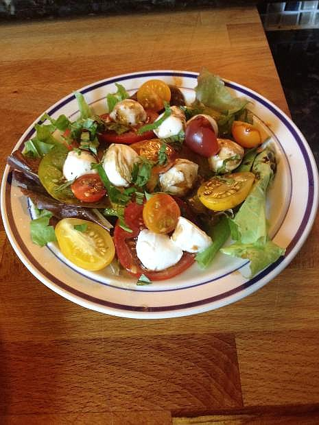 This salad is an easy summer meal, prepared with local ingredients available at the 3rd and Curry Street Farmers Market.