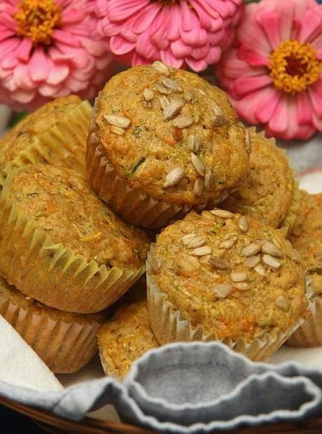 Loaded Summer Squash Muffins