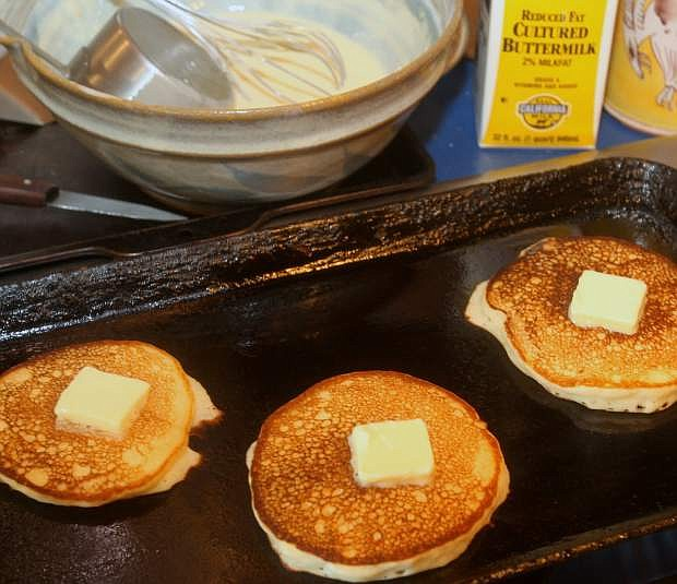 Muffy Vhay's old  fashioned buttermilk griddle cakes.