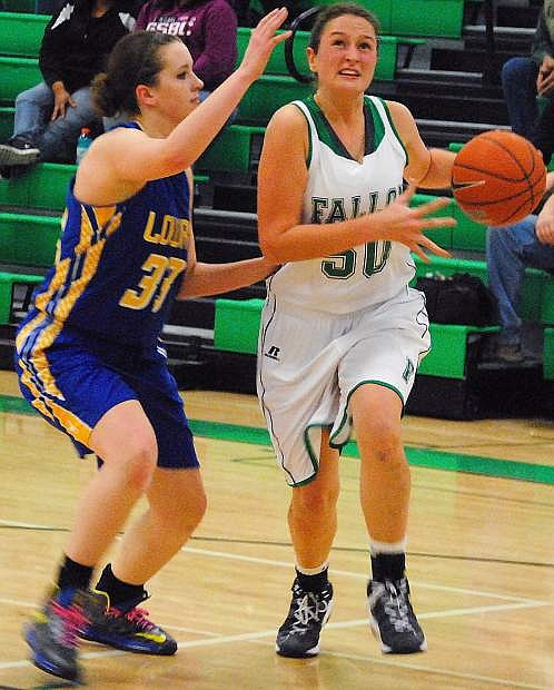 Fallon's Hannah Lindsay was named to the Northern Nevada Sports Writers Northern Division I-A first team on Tuesday.