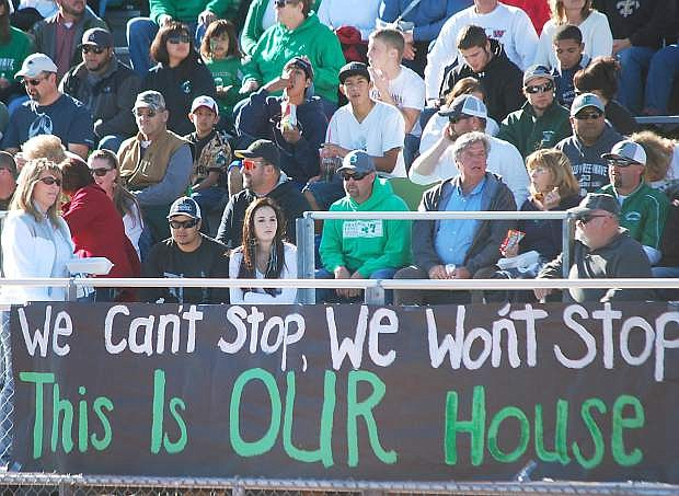 More than 2,000 fans attended Saturday's semifinal game against Moapa Valley. The Greenwave faithful will be on the road Saturday to watch the Greenwave play for its first state title in 35 years.
