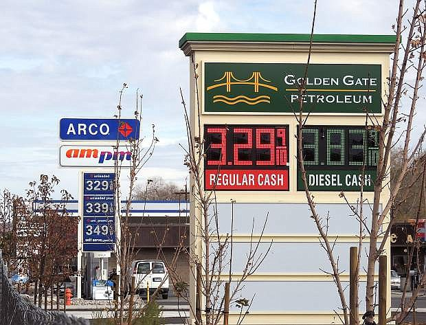 Gasoline prices at several Carson City gas stations this week dipped below $3.30 a gallon for unleaded regular, joining a national trend of moderation in fuel costs for motorists.