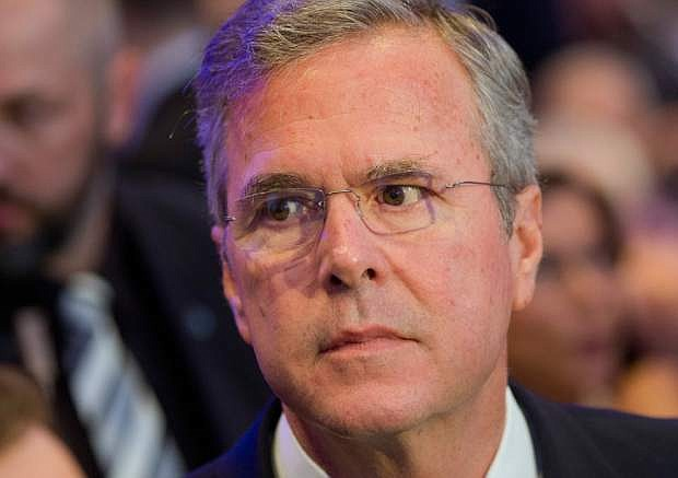 Former US Governor Jeb Bush arrives for the Economic Council in Berlin, Germany, Tuesday, June 9, 2015. The Economic Council is a German business association representing the interests of more than 11,000 small and medium sized firms, as well as larger multinational companies. (AP Photo/Michael Sohn)