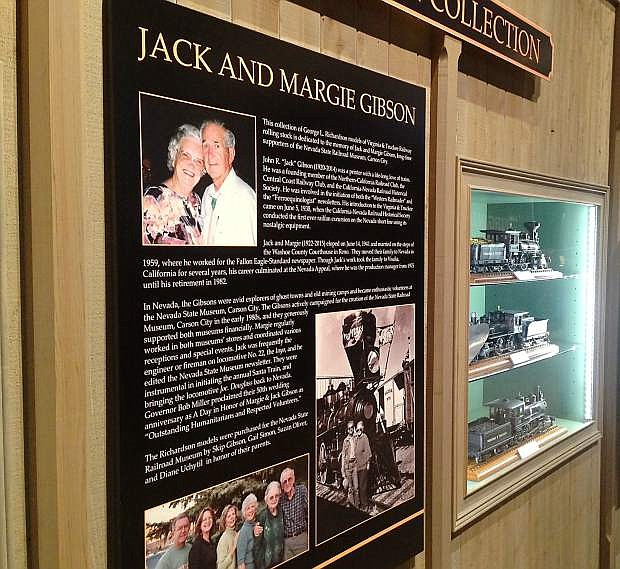 A $40,000 donation by the four children of Jack and Margie Gibson has enabled a key exhibition at the Nevada State Railroad Museum in Carson City in honor of their parents.