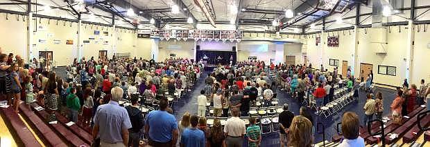 Hilltop Community Church celebrated its 40th anniversary Sept. 7 at Sierra Lutheran High School. Former church members from as far away as South Carolina attended the party.