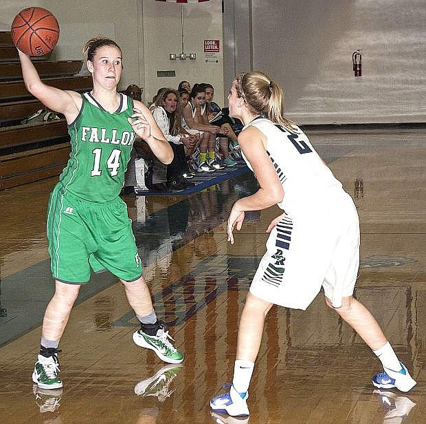 Megan McCormick, left, and the Lady Wave take on Truckee today and Douglas on Saturday at the Elmo Dericco Gym.