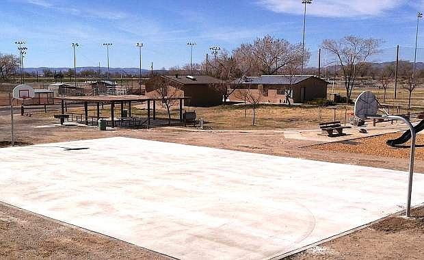 A new outdoor basketball court next to the Churchill County Indoor Pool is open for residents.