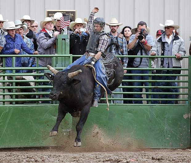 Rodeo action at the Smackdown at Fuji Park in Carson City, Nev., on Friday, June 5, 2015.