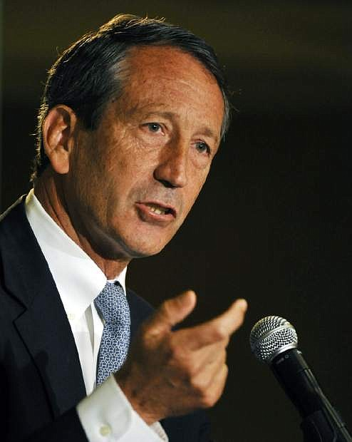 IIn this photo taken April 29, 2013, former South Carolina Gov. Mark Sanford talks during the 1st Congressional District debate in Charleston, S.C. Sanford and former Rep. Anthony Weiner, D-N.Y., are running on redemption. Based on the comebacks attempted by plenty of other politicians, athletes and celebrities felled by scandal, the strategy just may work. To a certain degree, it already has: Both men are back in the national political spotlight just a few short years after their dalliances led many observers to declare their careers over. (AP Photo/Rainier Ehrhardt)