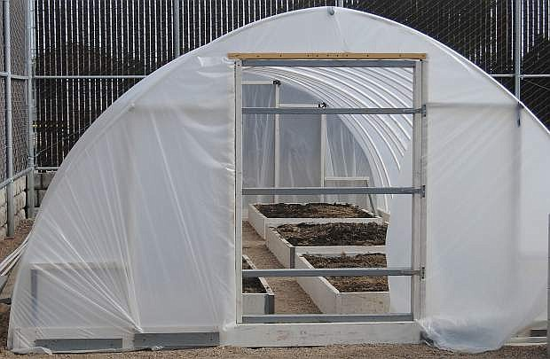 The Churchill County Juvenile Justice Center now has the ability to grow their own fruits and vegetables thanks to their new hoop house.