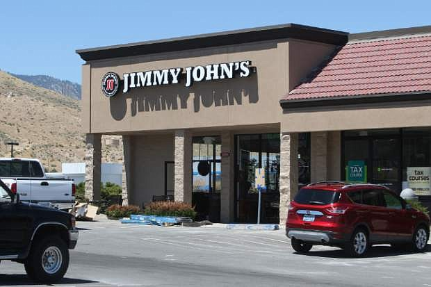 Work continues on the Jimmy John's Gourmet Sandwiches eatery located near the Southgate mall.