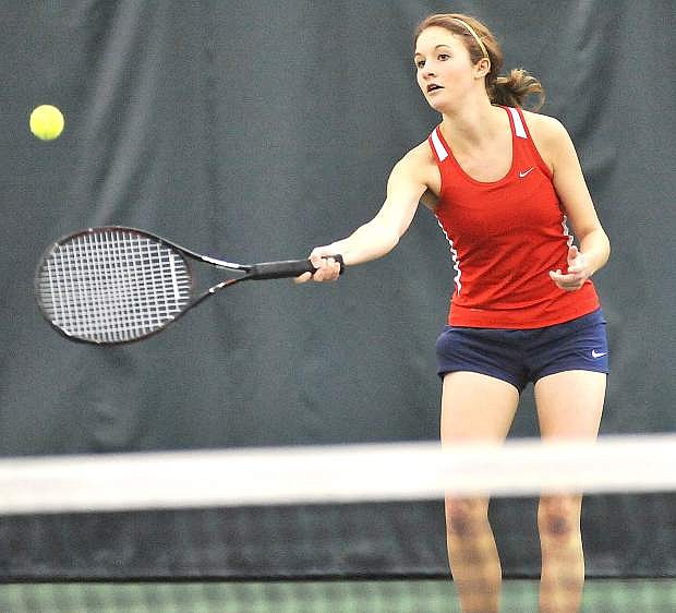 Former Fallon standout Haley Jorgensen led the St. Mary's women's tennis team in wins this season.