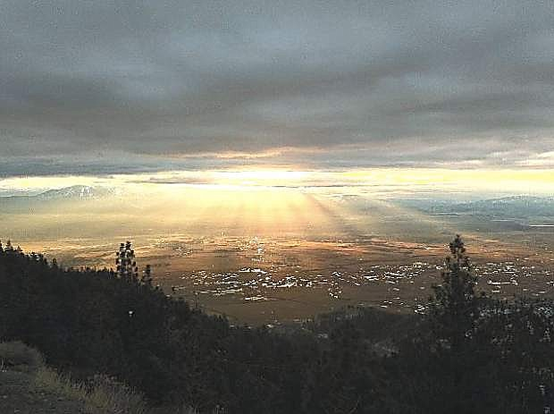 Gardnerville Ranchos resident Jeff James took this photo of Carson Valley in 2011 from near the top of Kingsbury Grade. Access to the grade will be restricted until late this month.