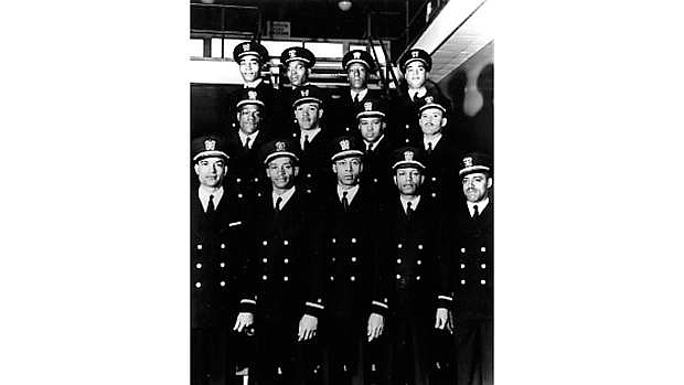 "In February 1944, the Navy commissioned its first African-American officers. This long-hoped-for action represented a major step forward in the status of African-Americans in the Navy and in American society. The twelve commissioned officers, and a warrant officer who received his rank at the same time, came to be known as the ""Golden Thirteen""."