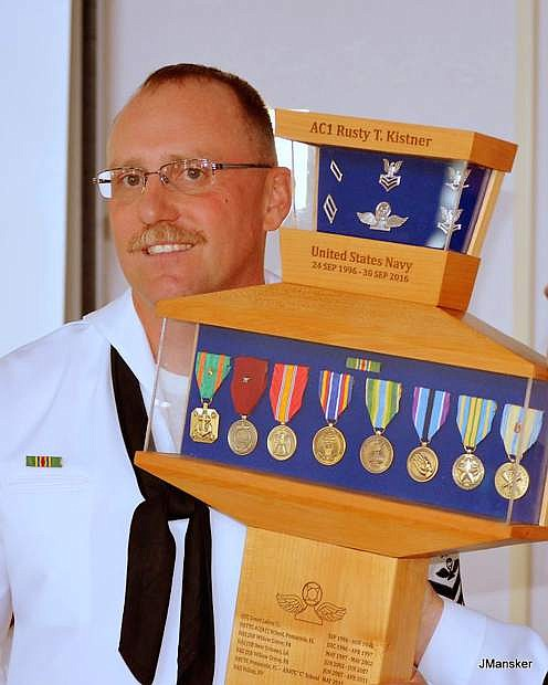 Ac1 Rusty Kistner has retired after a 20-year career with the U.S. Navy.
