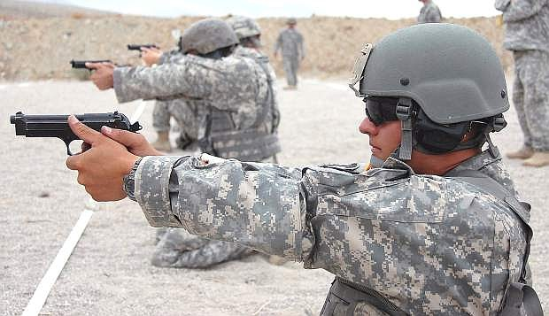 Nevada Army Guard Staff Sgt. Frank Nash is considered the top marksman in the Nevada National Guard.