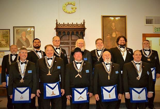 Carson Lodge No. 1 Free and Accepted Masons held its 154th Installation of Officers on Jan. 2. Shown are the 2016 Carson Lodge Officers, led by Worshipful Master Terry Edis, front row, center. Carson Lodge was the first Masonic Lodge chartered in Nevada and continues 154 years of continuous service to the community.