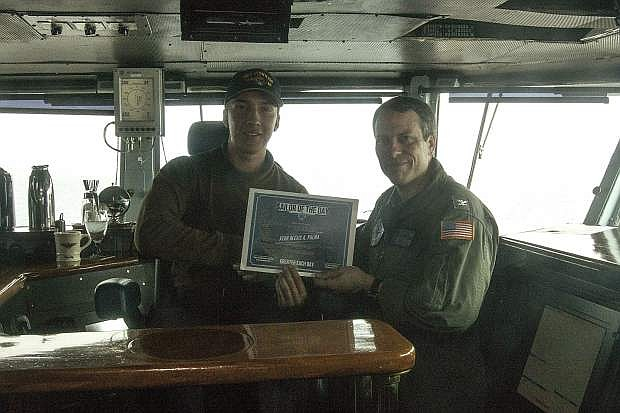 Aviation Electronics Technician Airman Alexis Palma of Minden was recently named Sailor of the Day aboard USS Dwight D. Eisenhower (CVN 69).