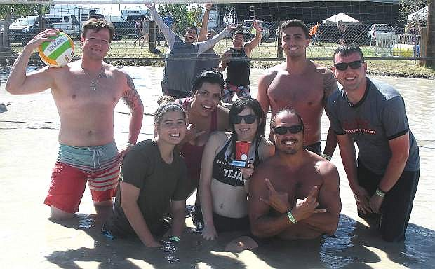 That One Team claimed the Cantaloupe mud volleyball title last weekend at the Churchill County Fairgrounds.