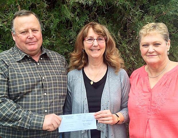 Western Nevada Affiliate of the National Alliance on Mental Illness, or NAMI, received a $500 donation from the Carson City Retirees Chapter 1245 of the International Brotherhood of Electrical Workers.