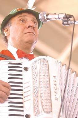 Nevada Appeal StaffJoey Ginnetti plays the accordion at the Carson City Oktoberfest celebration on Saturday.