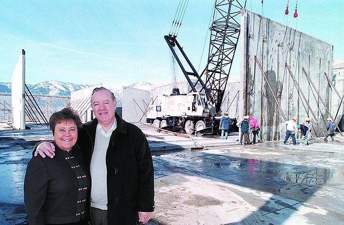 Cathleen AllisonDARJA Labratories owners Drs. James and Darlene McCord are shown in February of 2000 during construction of their 90,000 square foot pharmaceutical company at Airport Business Park in Minden.