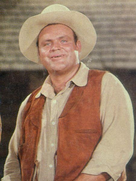 "Dan Blocker portraying Hoss on the television show ""Bonanza."" Photo from the Ponderosa Ranch via Nevada Magazine."