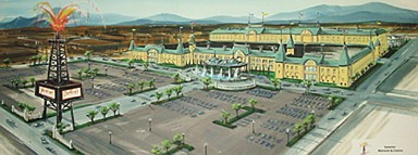 An artist's rendering of the Beverly Hillbillies Hotel & Casino.