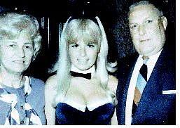 Submitted photo As a bunny, Janice Elliott is pictured with her parents.