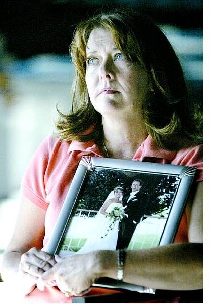 Cathleen Allison/Nevada Appeal Newlywed Delores Petrilena talks about the loss of her husband, Vincent, in a Lake Mead drowning in May. Petrilena's body has not yet been recovered. He will be remembered in a service on Tuesday.