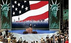 Associated Press New York Mayor Michael Bloomberg addresses the delegates at the Republican National Convention Monday.