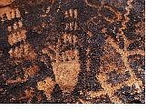 Bears Paw Petroglyphs, etched symbols of American Indian life are seen in sandstone at Little Red Rocks in Las Vegas Sept. Isaac Brekken/Nevada Review Journal